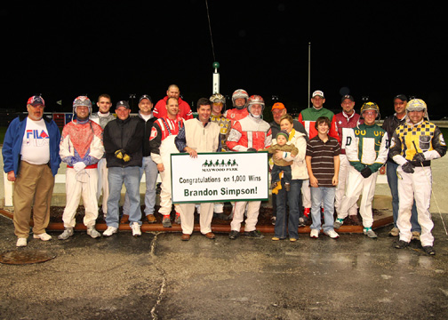 brandon simpson celebrated his 1 000th career victory at maywood
