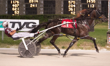 Well Basically (Atlee Bender) goes postward tonight in the last series leg of the Incredible Finale stake series. The Erv Miller trained two-year-old gelding drew the pole position in race three, (Four Footed Fotos)