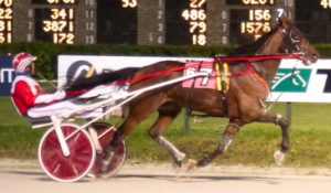 Hail Caesar was much the best with Casey Leonard in last night's Dygert male trotting stake. (Four Footed Photo)
