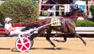 PJ Boy (Ridge Warren) took the $21,000 Pronto Don for 3-year-old ICF male trotters. (Four Footed Photo)