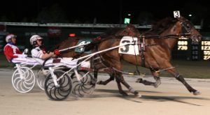 A Cool Card, a 2013 Super Night winner with Marcus Miller, returns for Hawthorne's Molaro stake. (R.E. B. Photo)