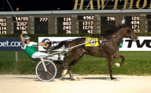 Louscipher (Pat Curtn) triumphed on Hawthorne's Night of Champions and also won the Cardinal Trot for trainer Roshun Trigg. (Four Footed Photo)