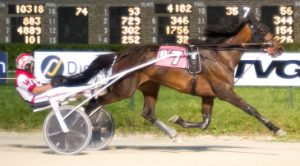 The Kenny Collier Stable's Vengeful (Todd Warren) is tonight's Beulah Dygert Championship favorite in the stake final for ICF three-year-old trotting fillies. (Four Footed Photo)