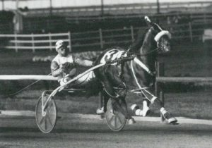 Tonight's Incredible Finale honors one of the all-time great ICF pacers. The Tom Harmer trainee was the state's first horse to earn $1 million. He's shown here winning at old Sportsman's Park in 1985. Incredible Finale went on to also be an outstanding Illinois sire . (Pete Luongo Photo).