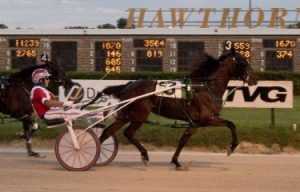 Hosea William's Rollin Coal (Casey Leonard) captured last night's first division of Hawthorne's Incredible Tillie stake series. (Four Footed Photo).