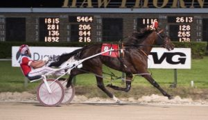 Fox Valley Nemitz (Casey Leonard) looks to wrap up a starting berth in the Robert F. Carey stake series championship with a victory tonight. (Four Footed Photo)