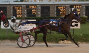 Princess Sage (Freddie Patton Jr.) looks to get back on the winning track in Friday's first Plum Peachy stake series. (Four Footed Photo)