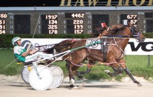 Cornelius Cavett's Thebestmanicanbe popped at 18-1 with Curtin in another Cardinal pace elimination. (Foir Footed Photo)