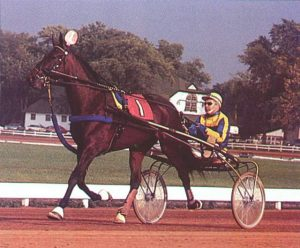 In 1972 Stanley Dancer's Hall of Fame trotter Super Bowl captured the prestigious Hamletionian at Du Quoin. (USTA Photo)