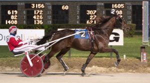 True Detective (Casey Leonard) was the easy winner of Saturday's Kadabra trotting stake. (Four Footed Photo)