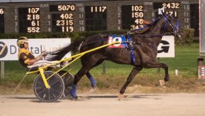 Despite the 10-hole Picky Picky Valor (Mike Oosting) captured the Erwin F. Dygert trotting stake championship. (Four Footed Photo)