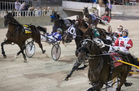 The Robert Molaro for older ICF pacers colts and geldings that preceded the Invitational Pace on the NOC and the pictured Robert Carey for state-bred 3-year-old male pacers that followed each had more than $33,000 bet on them than the open company Invite. (Four Footed Fotos)