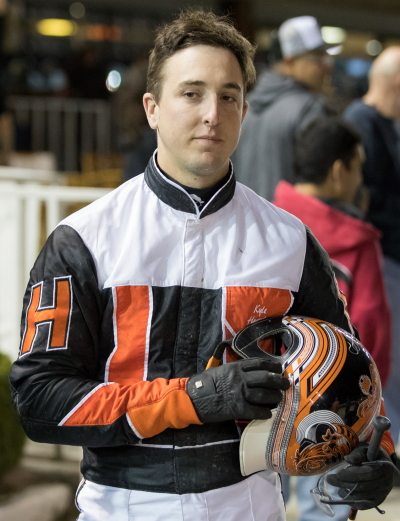 Kyle Husted drove three winners on the Night of Champions. (Four Footed Fotos)