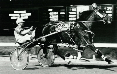 One of Hamilton's top pacing mares was Wendy Skipper, shown here winning at Maywood Park.
