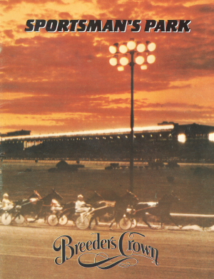 Sportsman's Park's 1985 Breeders Crown program cover.