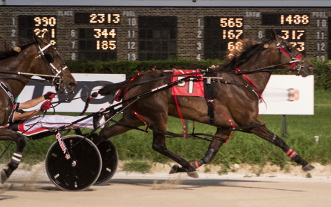It's Time For Fun (Kyle Wilfong), a two-time Hawthorne filly and mare Open winner this summer, is the morning line favorite in Saturday's $12,000 feature race. (Four Footed Fotos)