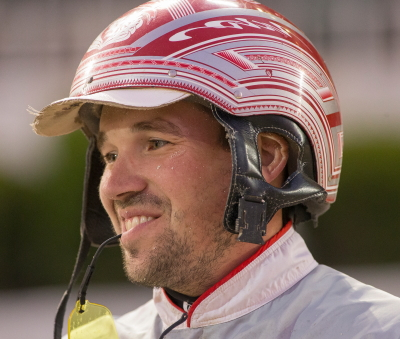 Driver Travis Seekman now has a reason to smile. (Four Footed Fotos)